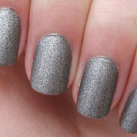 Nabi Matte Flat Silver Light Gray Color Nail Polish FREE SHIPPING