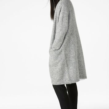 Long cosy cardigan - Grey cloud melange - Knitwear - Monki GB