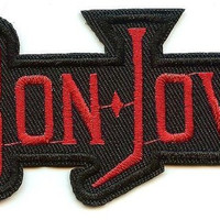 Bon Jovi Iron-On Patch Red Letters Logo