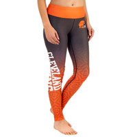 Cleveland Browns Women's Gradient Leggings – Brown