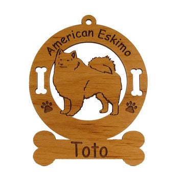 1218 American Eskimo Standing Personalized Ornament
