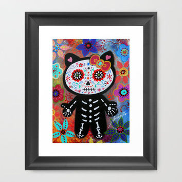 HELLO KITTY DIA DE LOS MUERTOS PAINTING Framed Art Print by Prisarts