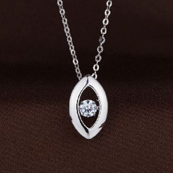 Oval Shaped Swaorvski Crystal Necklace