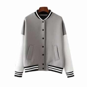 Varsity colorblock jacket