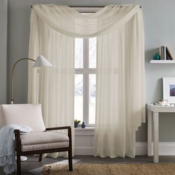 Real Simple® Thermalight™ Energy Efficient Crushed Voile Window Panel