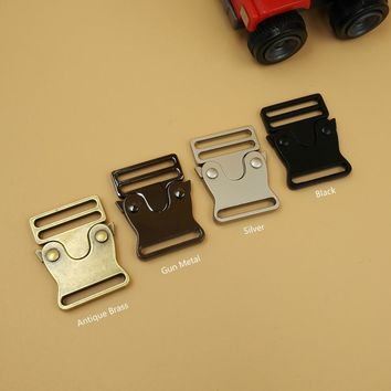 NEW 3 Colors 5Pcs For 25mm Webbing Strap Quick Release Buckles Side Release Metal Buckles Shackle For DIY Bags Parts Accessories