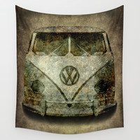 Vintage VW Bus - the choice of a generation and then some. Wall Tapestry by BruceStanfieldArtist.DarkSide | Society6