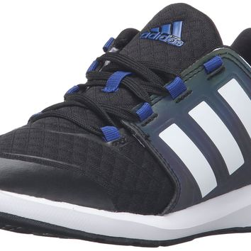 adidas Performance s-Flex K Running Shoe Black/White/Collegiate Royal Little Kid (4-8