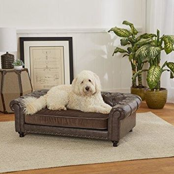 Enchanted Home Pet Wentworth Tufted Sofa with Velvet Cushion