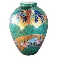 Hand-Painted Gilded Decorative Porcelain Vase by Japanese Master Artist