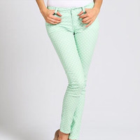 Mint Polka Dot pants