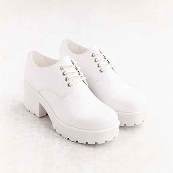 Vagabond Dioon Heeled Leather Oxford- White