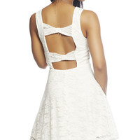 Bow Lace Skater Dress   Wet Seal