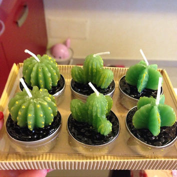 Cactus Candles 3 piece set!