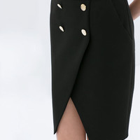 TWO-LAYER BUTTON-UP SKIRT