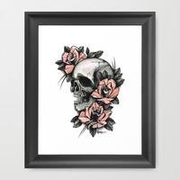 Death - tattoo Framed Art Print by Guru