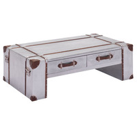 Kant Narrow Coffee Table Distressed Aluminum