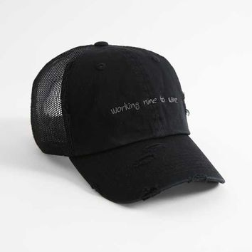 WORKING NINE TO WINE BASEBALL HAT