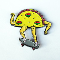 Nug Taco – Third-Eye Taco with Skateboard Pin