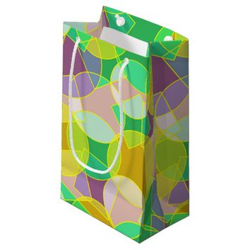 Stained glass geometric pattern small gift bag