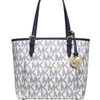 Michael Michael Kors Jet Set Medium Signature Snap Pocket Tote