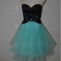 Lovely Lace Ball Gown Sweetheart Mini Prom Dress/Graduation/Party Dress