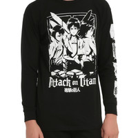 Attack On Titan Trio Long-Sleeved T-Shirt