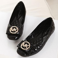 MK Summer Spring Autumn Women Flats Fashion Boat Shoes Woman Casual Brand Single Shoes Black