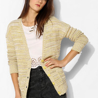 Olive & Oak Marled Open-Stitch Cardigan - Urban Outfitters