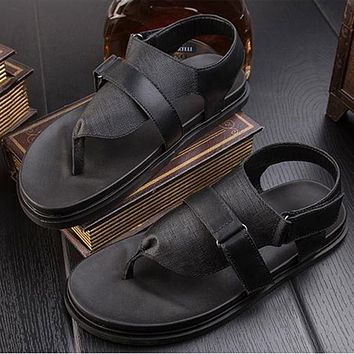 Summer leather sandals sandals male Korean version of the feet comfortable sandals men trend retro Japanese sandals RL319