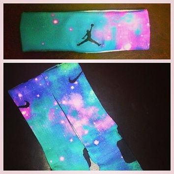 Nike/Jordan Galaxy LE Socks & Headband by SNEAKERHEADSCLOTHING