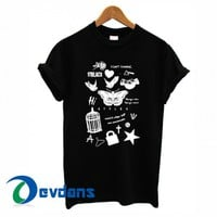 Tatto Harry Styles one direction T-shirt men, women adult unisex