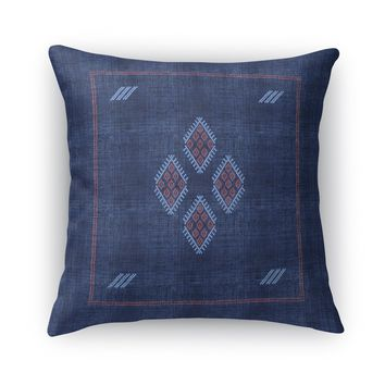 KILIM NAVY Accent Pillow By Becky Bailey