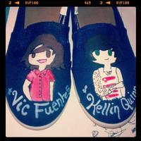 Pierce The Veil Canvas Custom Shoes by BombAssKicks on Etsy