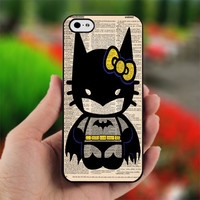 Hello Kitty Batman - Design for iPhone 5 Black Case