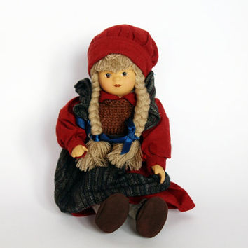 Vintage doll, antique doll with bisque face