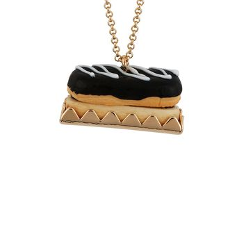 N2 by Les Néréides GOURMET COFFEE FRENCH CHOCOLATE ECLAIR LONG NECKLACE