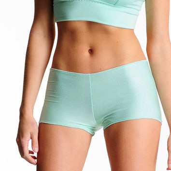 Lingerie Boyshorts- Mint Green - Comfortable Full Coverage Panties Underwear