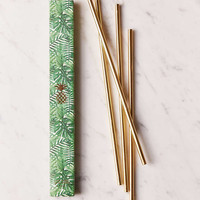 "W&P Design 10"" Metallic Straws Set - Urban Outfitters"
