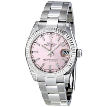 Rolex Datejust Lady 31 Pink Dial Stainless Steel Oyster Automatic Watch 178274PS