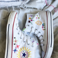 Custom Embroidered Converse