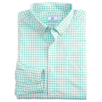 Tradewind Tattersall Sport Shirt in Offshore Green by Southern Tide