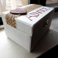 Rustic Wedding Advice Box - Wedding Reception Activity (Order on Etsy now)
