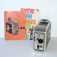 Vintage Brownie 8mm Movie Camera circa 1950's with Manual , Old Movie Camera , Vintage Photography , Display Camera