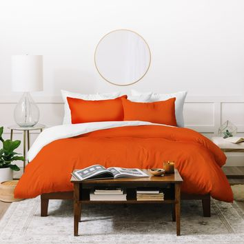 DENY Designs Deep Orange 1665c Duvet Cover