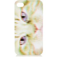 TOPSHOP Cat Face Print iPhone Shell