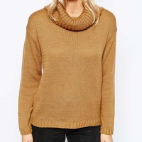 Boohoo Cowl Neck Soft Knit Jumper at asos.com
