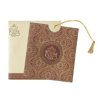 Lord Ganesha Wedding Greeting-KNK3754