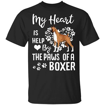 My Heart Is Held By The Paws Of A Boxer Lover