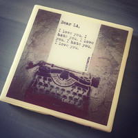 Wrdsmth Famous Quote Ceramic Tile Coaster; House Decor; House Warming Gift; Unique Poet Quotes; Typewriter Quotes; Instagram Photo Coaster;